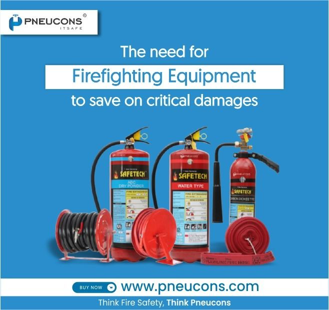 The need for firefighting equipment to save on critical damages