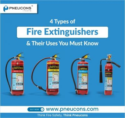 You Must Know these 4 Types Of Fire Extinguishers & Their Uses